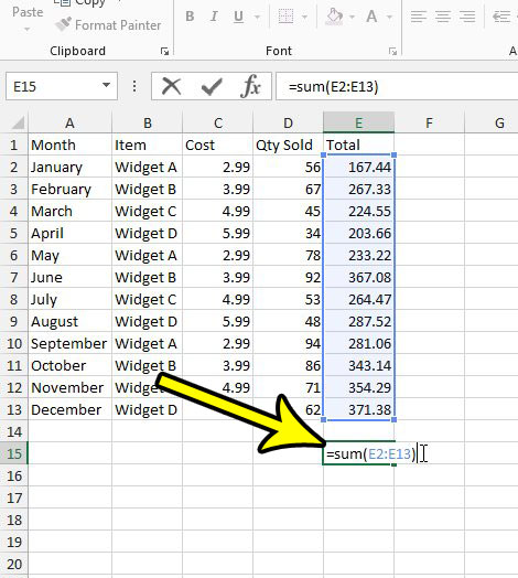 enter the formula into an empty cell in your spreadsheet