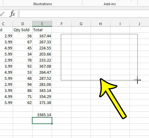 draw a text box in excel 2013