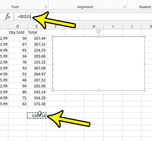 how to display a formula result in a text box in excel 2013