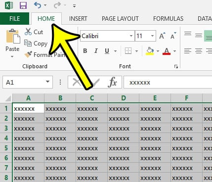 how to set a fill color in excel 2013