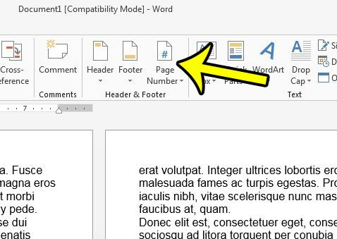 change page number format in word 2013