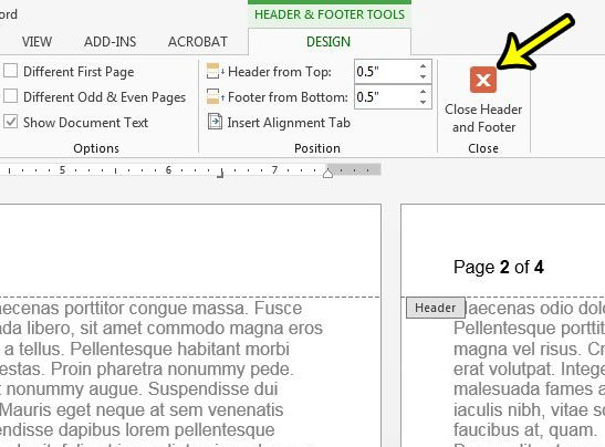 how to use page x of y page numbers in word