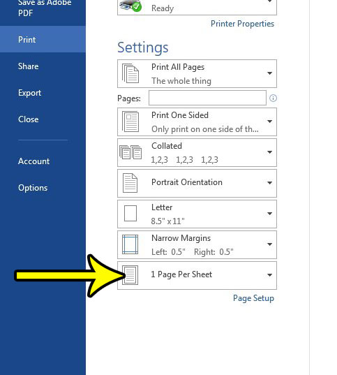 print two pages on one paper in word