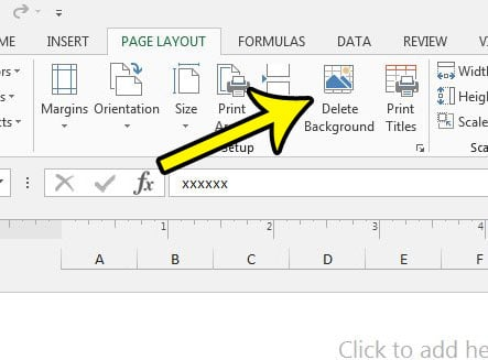 how to remove a watermark in excel 2013