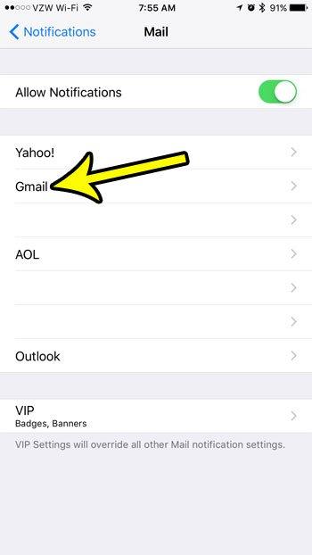 how to remove the white numebr in red circle from mail app