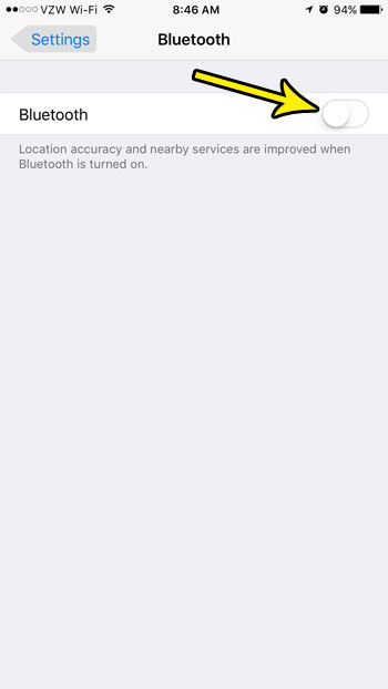 turn off bluetooth to disable airdrop
