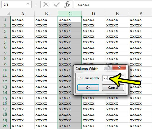 elongate cells in excel 2013