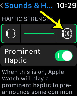 how to make vibration stronger on apple watch