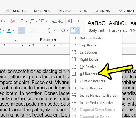 How To Add A Border To A Paragraph In Word 2013