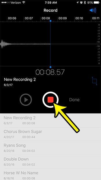 record sound on iphone
