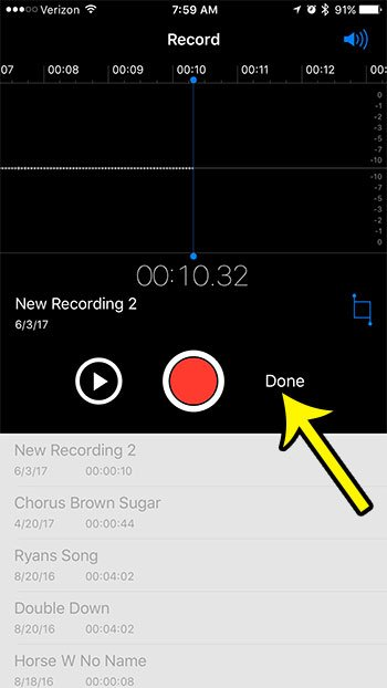 iphone how to record a voice memo