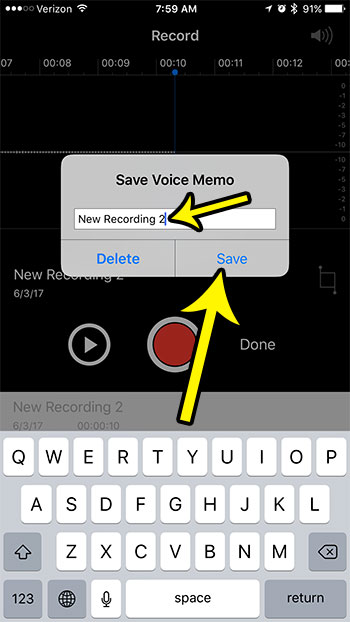 how to record voice memos on iphone 7