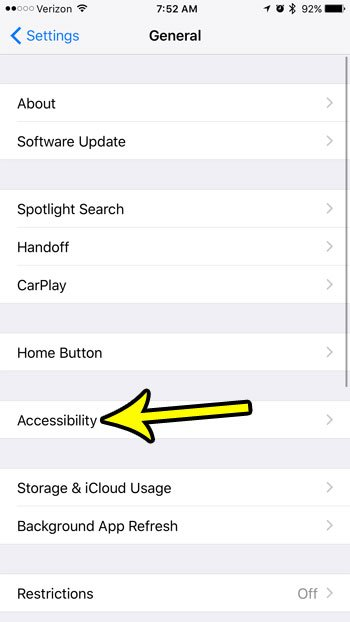 iphone accessibility menu