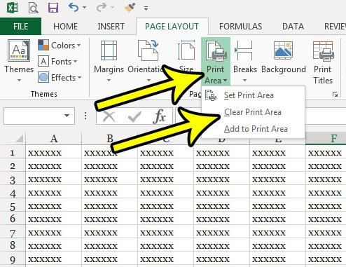why is only part of spreadsheet printing in excel 2013