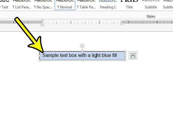 select text box in word 2013