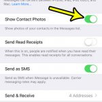 how to show contact pictures next to text messages iphone 7