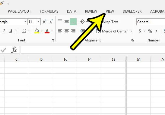 how to disable the split screen in excel
