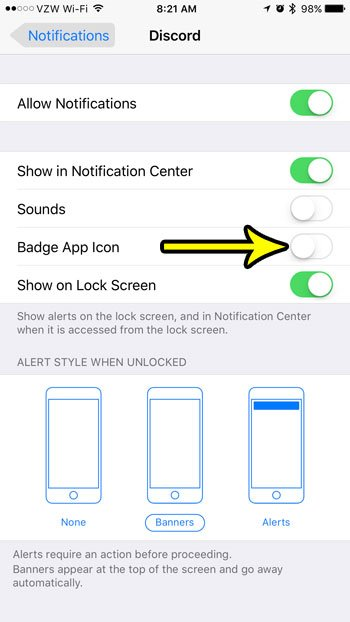 how to turn off badge app icon iphone 7