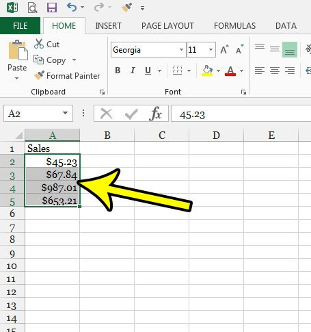 change money formatting in excel 2013
