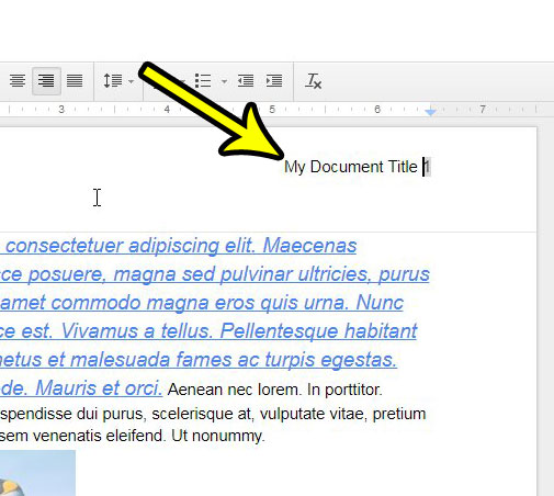 add more to the header in google docs