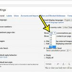 how to change number of conversations page gmail