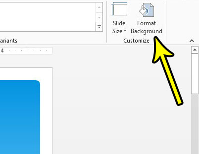 click the format background button