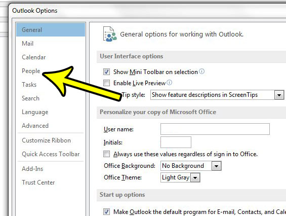 stop showing user pictures in outlook 2013