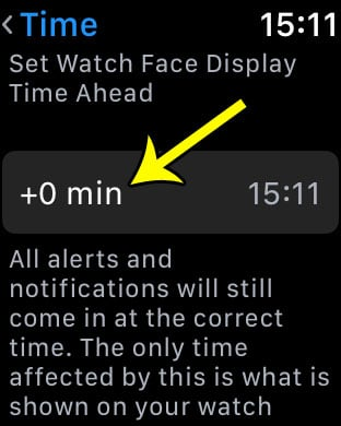 make clock fast on apple watch