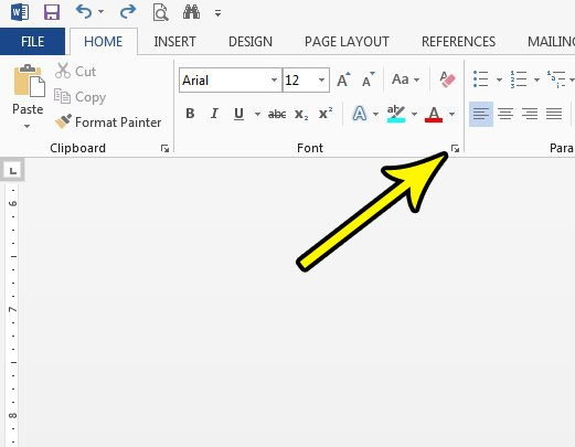 open the word 2013 font settings menu
