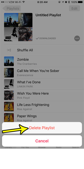 how to make a playlist on iphone 7