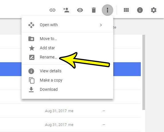 how to change a document name in google docs