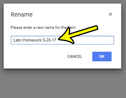 how to rename a document in google docs