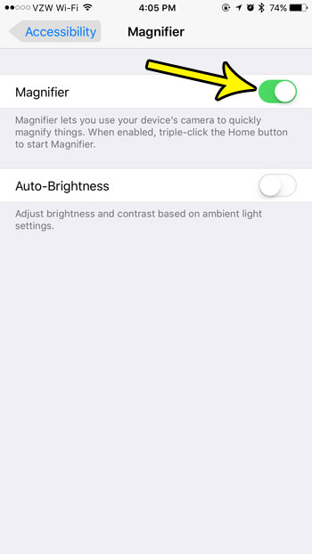 how to use magnifier iphone 7