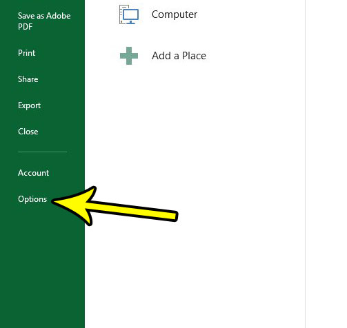 how to change default view in excel 2013