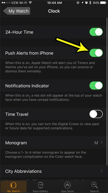 how to control timers and alarms on the apple watch
