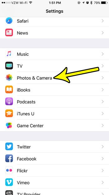 open the photos and camera app