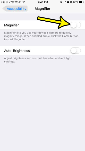 how to disable the magnifier on an iphone 7