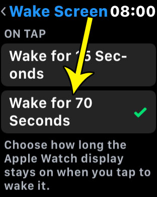 how to keep apple watch screen on for longer