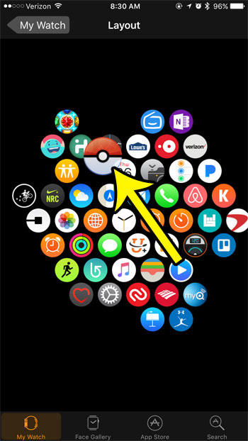how to move apps around on the apple watch