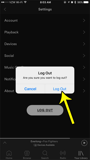 How to Sign Out of Your Spotify Account on an iPhone - Live2Tech