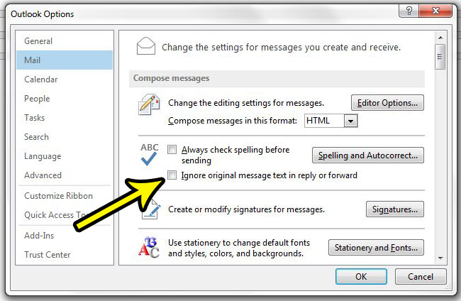 how to spell check the original message in outlook 2013