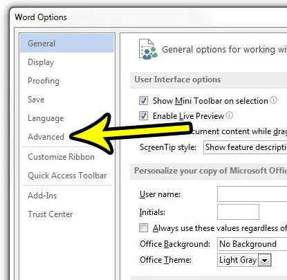 disable automatic hyperlink screenshots in word 2013
