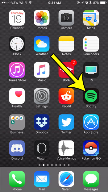 How to Create a New Playlist in Spotify on an iPhone 7