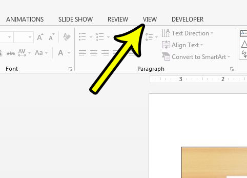 switch back to the default view in powerpoint 2013