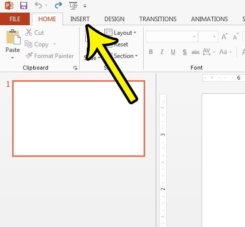 How to Add an Arrow to a Slideshow in Powerpoint 2013 - Live2Tech