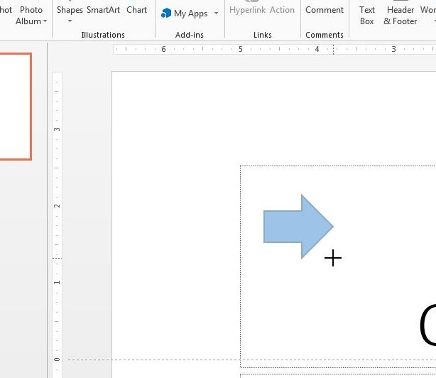 how to draw an arrow in powerpoint 2013