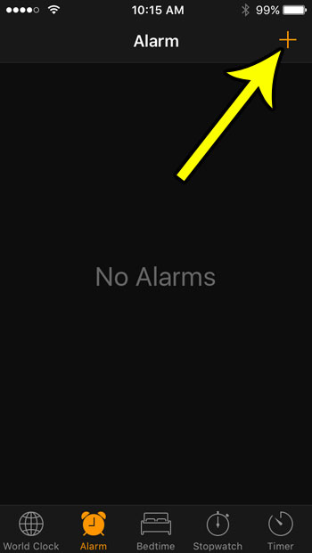how to set an alarm clock on iphone se