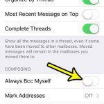how to stop copying yourself on sent emails on iphone se