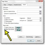 how to change the page order in excel 2013