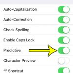 iphone se how to enable or disable predictive text
